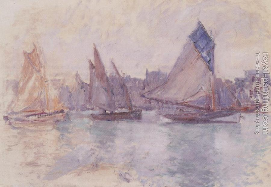 Claude Oscar Monet : Boats in the Port of Le Havre