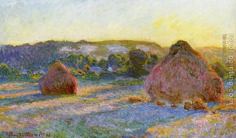 Claude Oscar Monet : Grainstacks at the End of Summer, Evening Effect