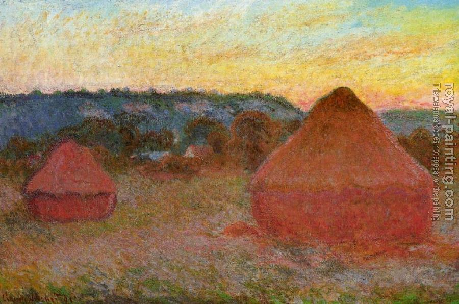 Claude Oscar Monet : Grainstacks at the End of the Day