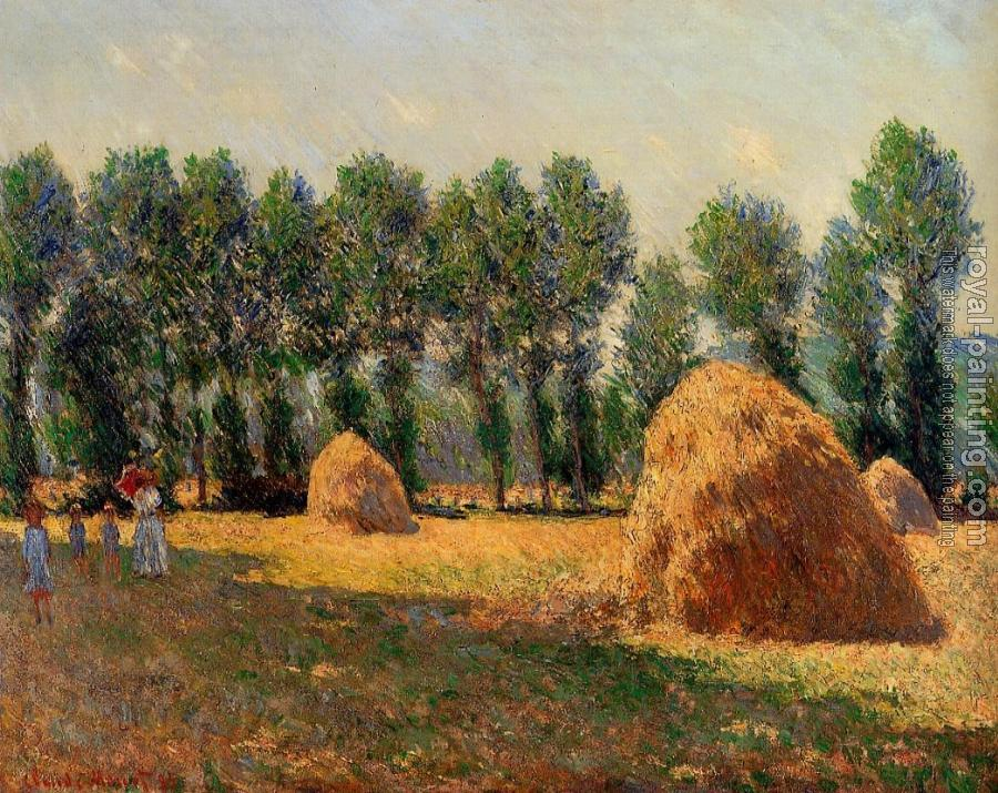 Claude Oscar Monet : Haystacks at Giverny II