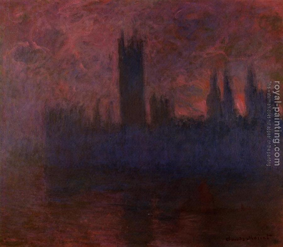 Claude Oscar Monet : Houses of Parliament, London, Symphony in Rose