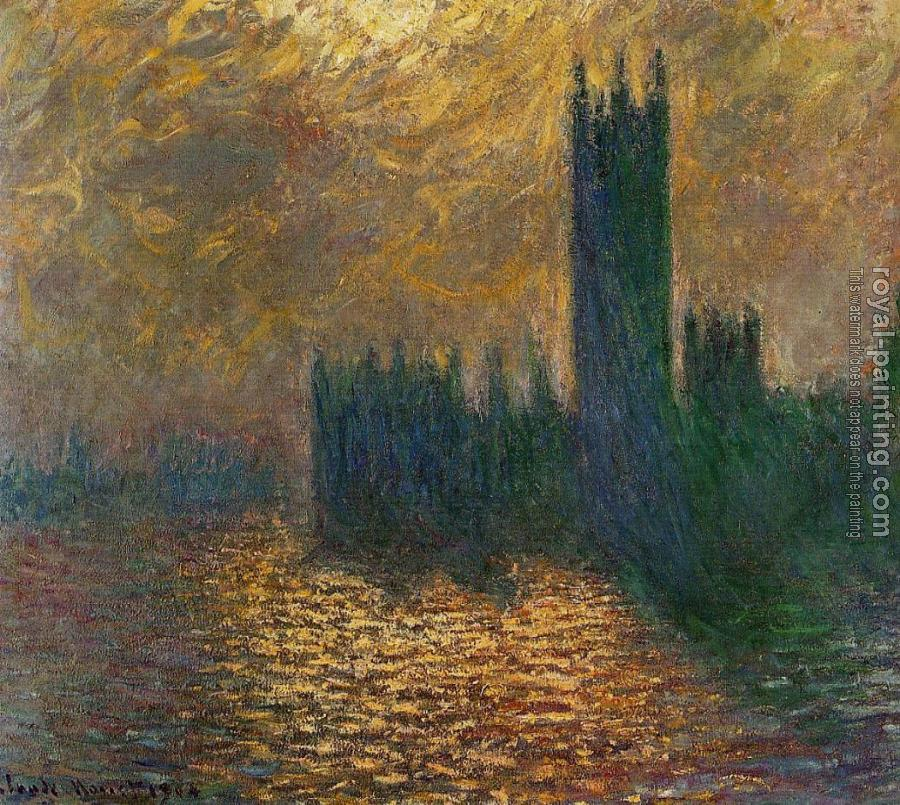 Claude Oscar Monet : Houses of Parliament, Stormy Sky