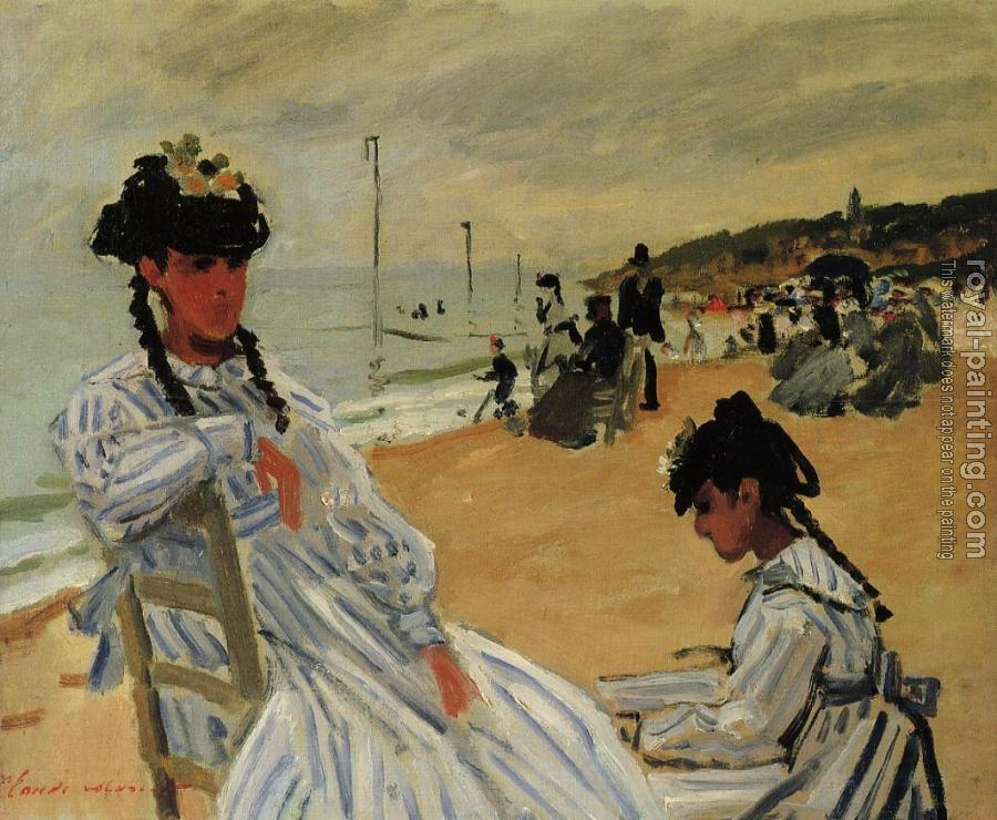 Claude Oscar Monet : On the Beach at Trouville II