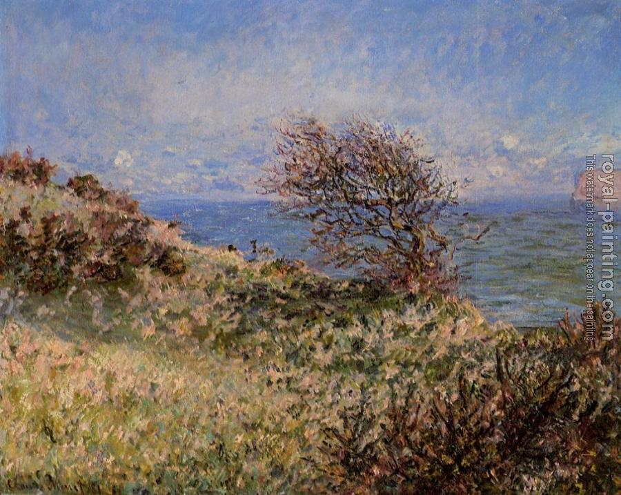 Claude Oscar Monet : On the Cliff at Fecamp