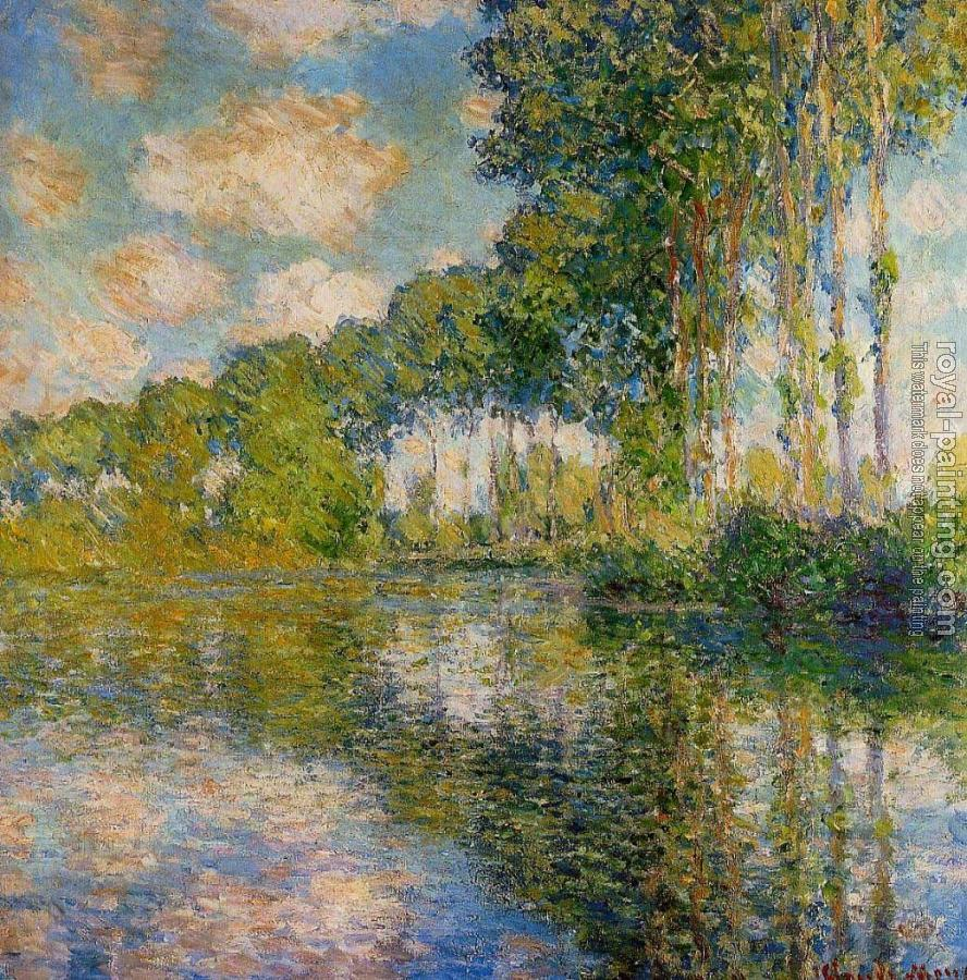 Claude Oscar Monet : Poplars on the Banks of the River Epte II