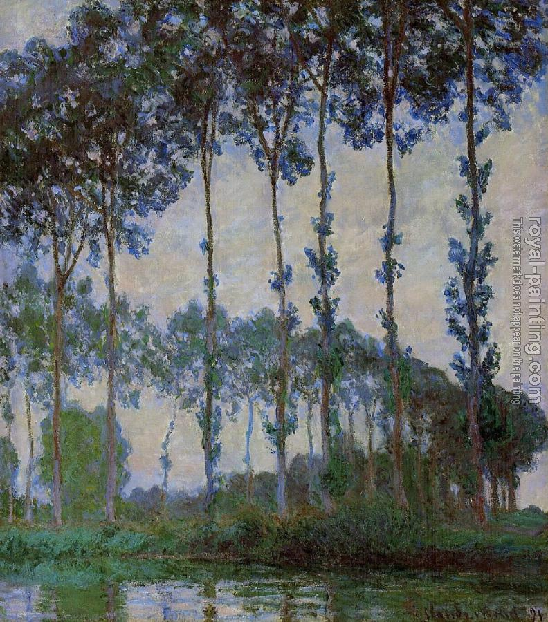 Claude Oscar Monet : Poplars on the Banks of the River Epte at Dusk