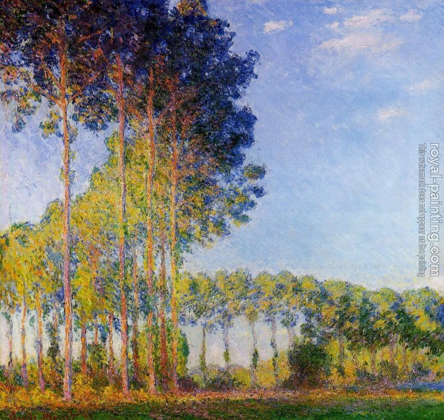 Claude Oscar Monet : Poplars on the Banks of the River Epte, Seen from the Marsh