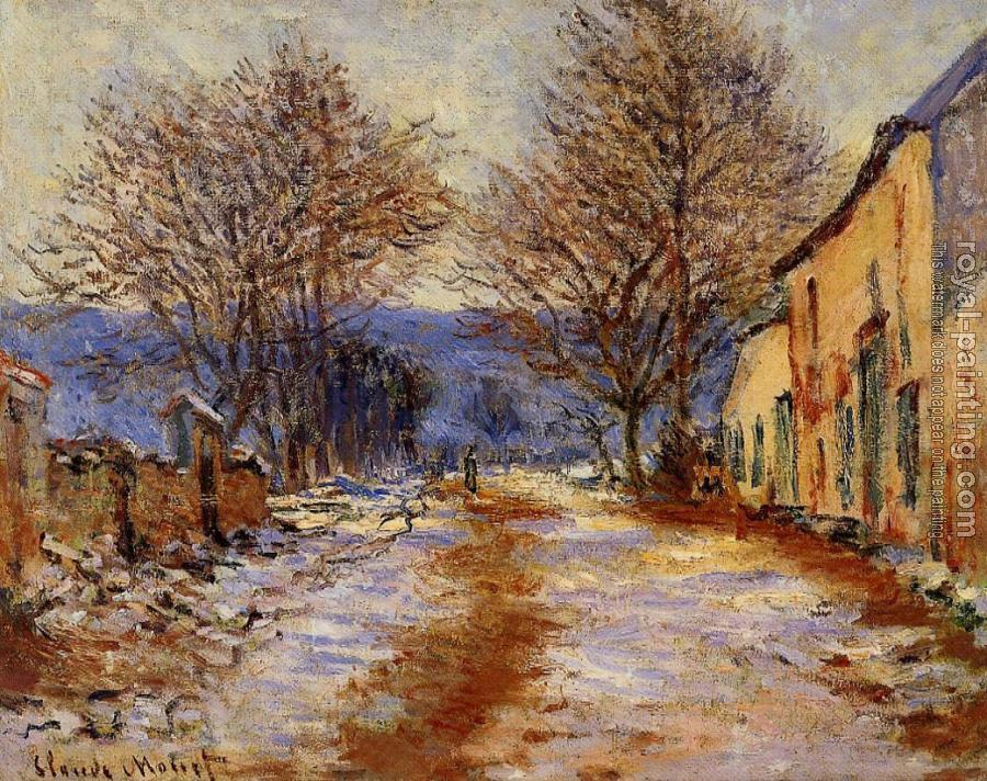 Claude Oscar Monet : Snow Effect at Limetz