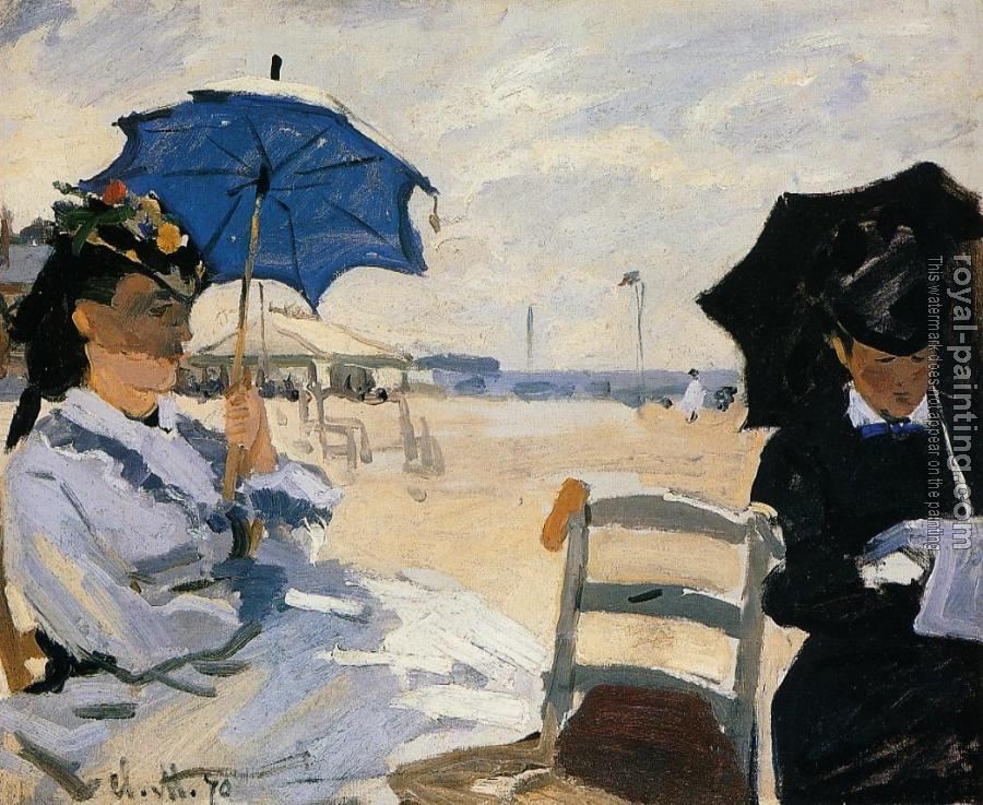 Claude Oscar Monet : The Beach at Trouville II