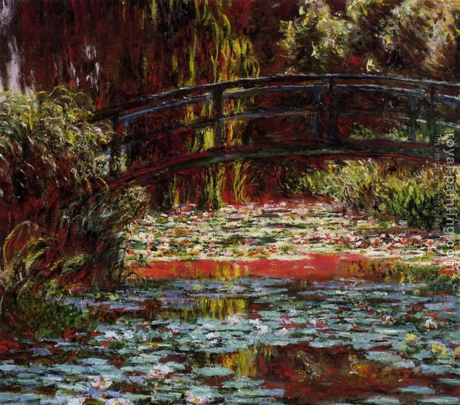 Claude Oscar Monet : The Bridge over the Water-Lily Pond