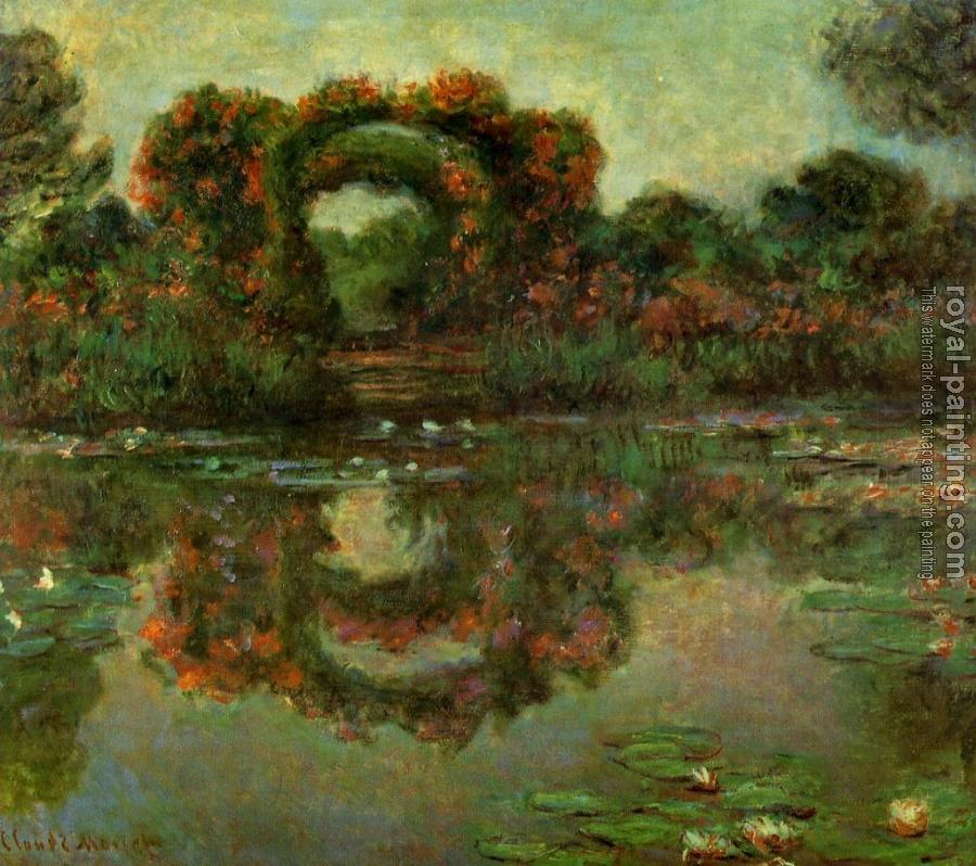 Claude Oscar Monet : The Flowered Arches at Giverny