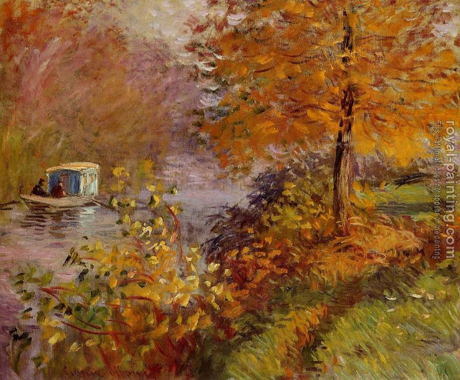 Claude Oscar Monet : The Studio Boat IV