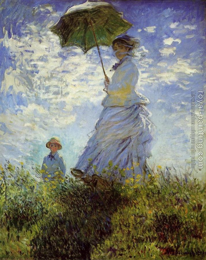 Claude Oscar Monet : The Walk, Woman with a Parasol