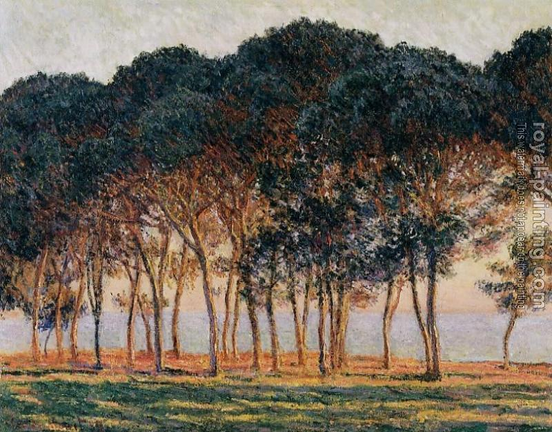 Claude Oscar Monet : Under the Pine Trees at the End of the Day