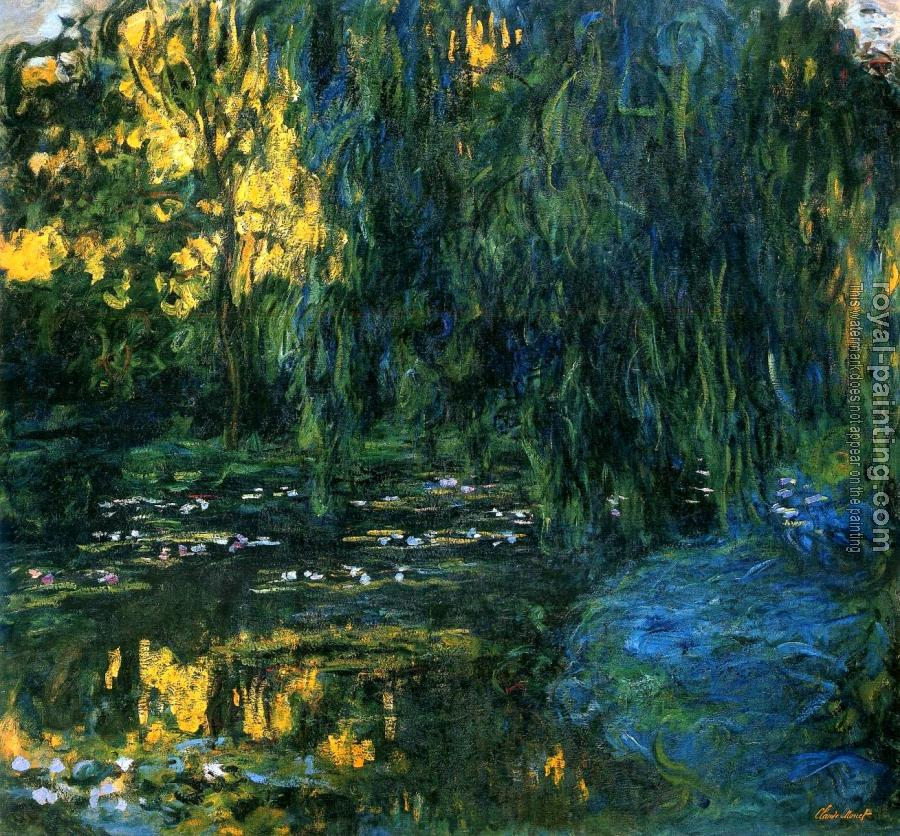 Claude Oscar Monet : Weeping Willow and Water-Lily Pond III