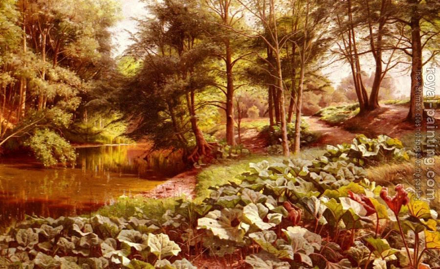 Peder Mork Monsted : The Path On The River's Edge