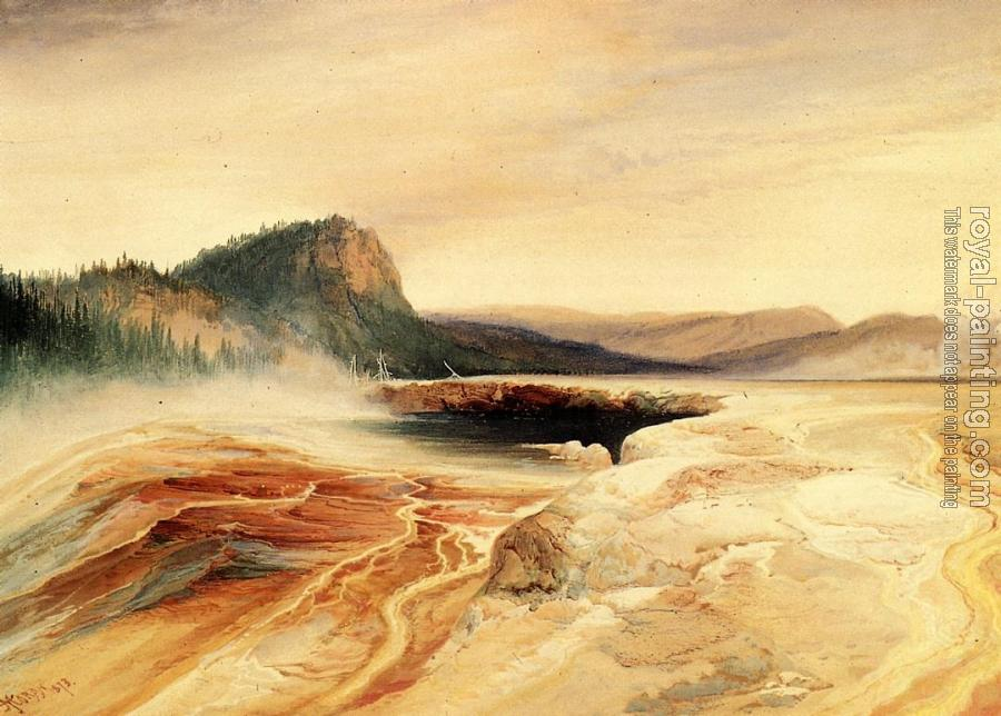 Thomas Moran : Giant Blue Spring, Yellowstone