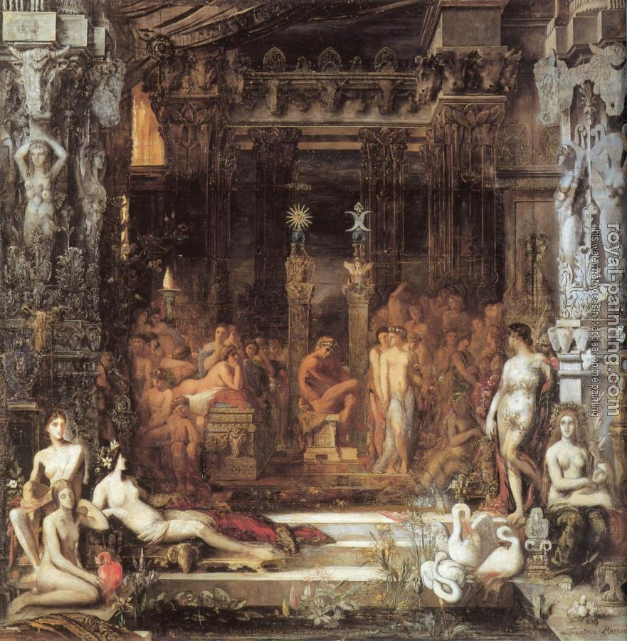 Gustave Moreau : The Daughters of Thespius