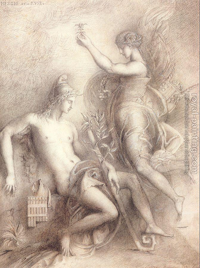 Gustave Moreau : Hesiod and the Muse III