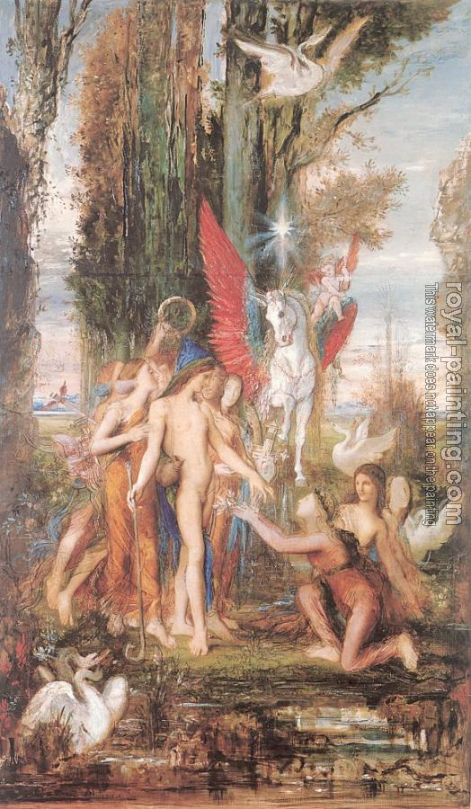 Gustave Moreau : Hesiod and the Muses II