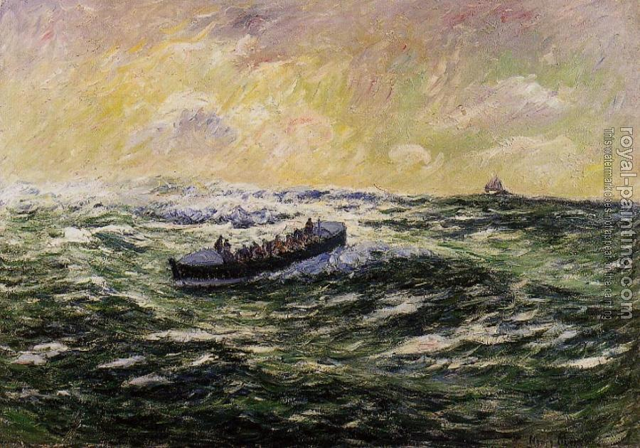 Henri Moret : Lifeboat at Audierne