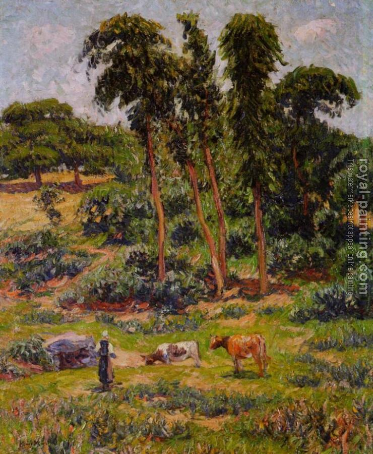 Henri Moret : Peasant and Her Herd