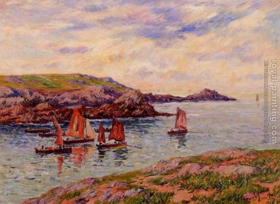 Henri Moret : Porspoder, the Port, Finistere II