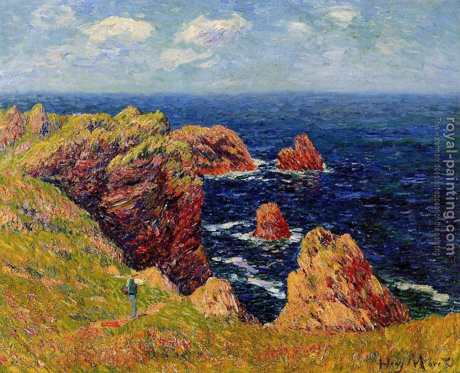 Henri Moret : Promenade on the Coastal Path