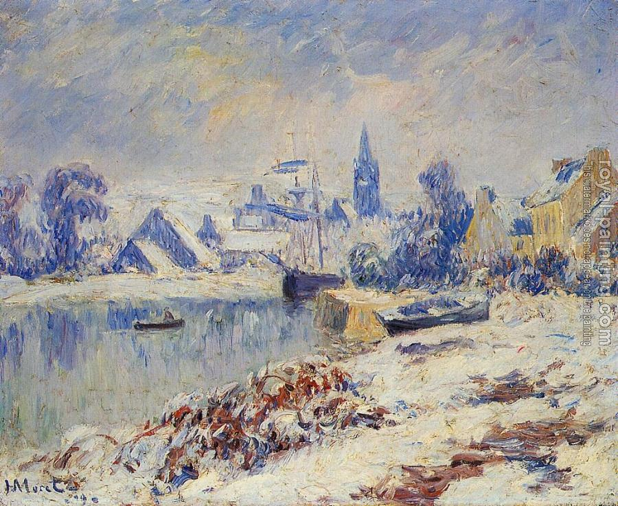 Henri Moret : Quimper, Lake Marie in the Snow