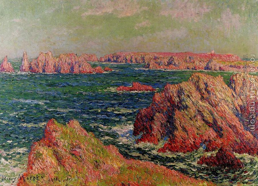 Henri Moret : The Cliffs at Belle Ile