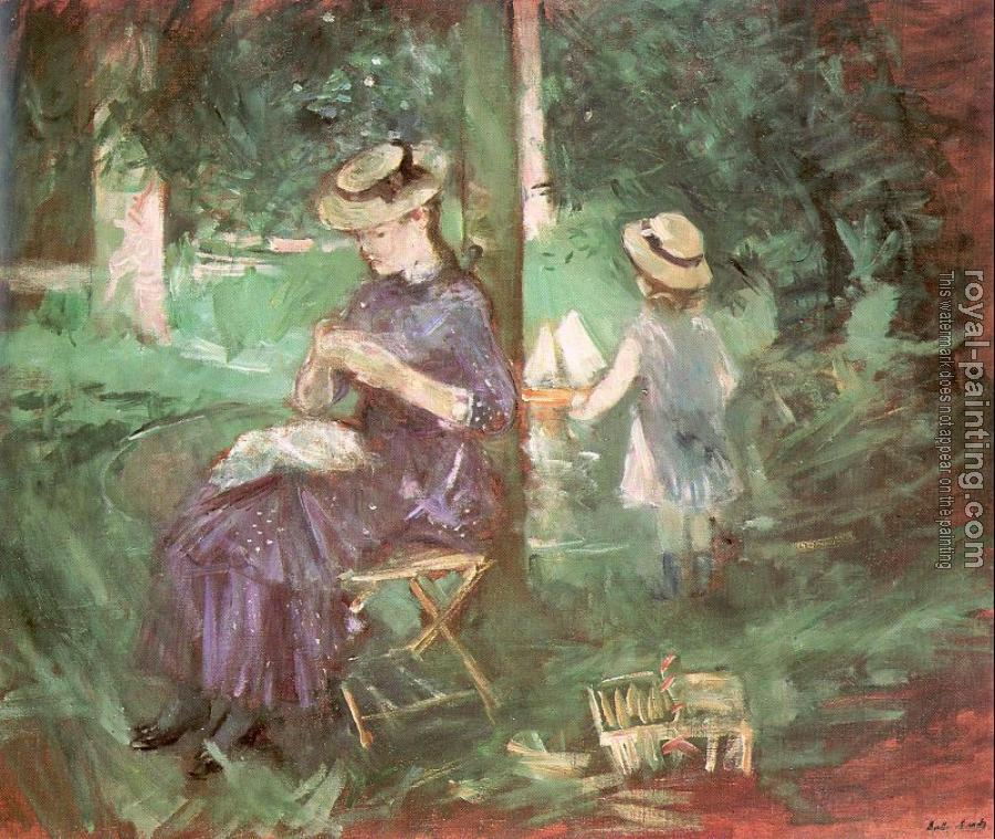Berthe Morisot : Woman and Child in a Garden