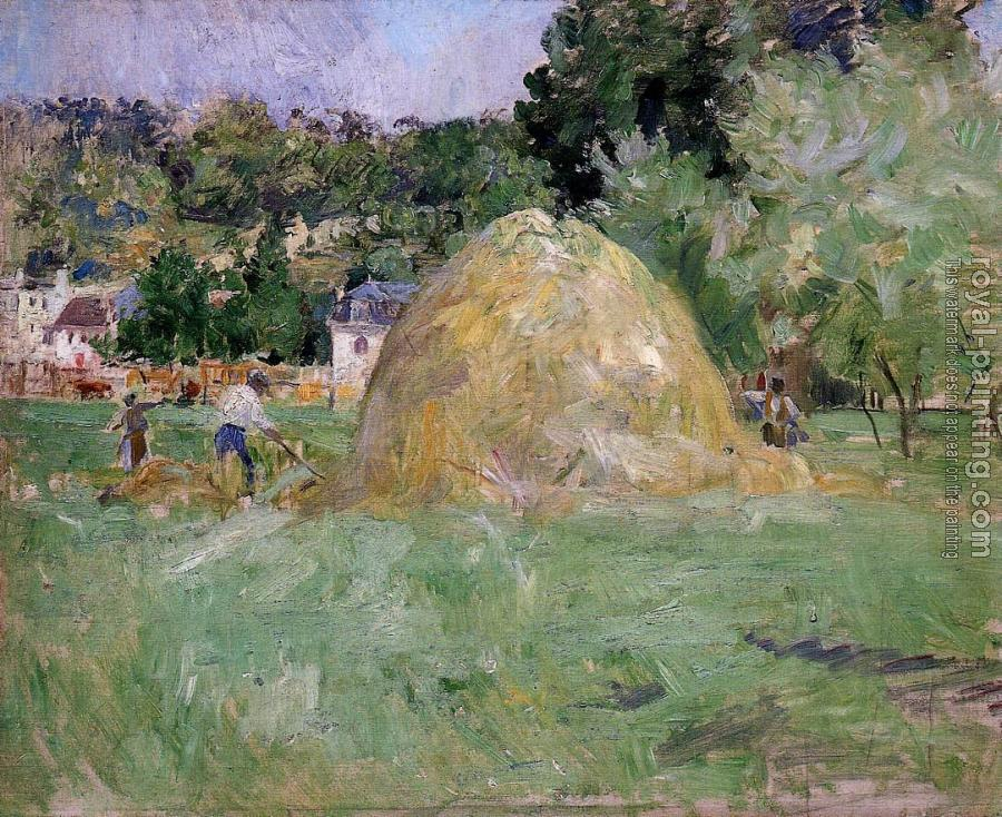 Berthe Morisot : Haymakers at Bougival