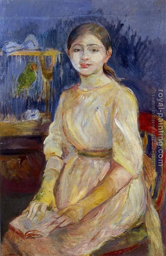 Berthe Morisot : Julie Manet with a Budgie