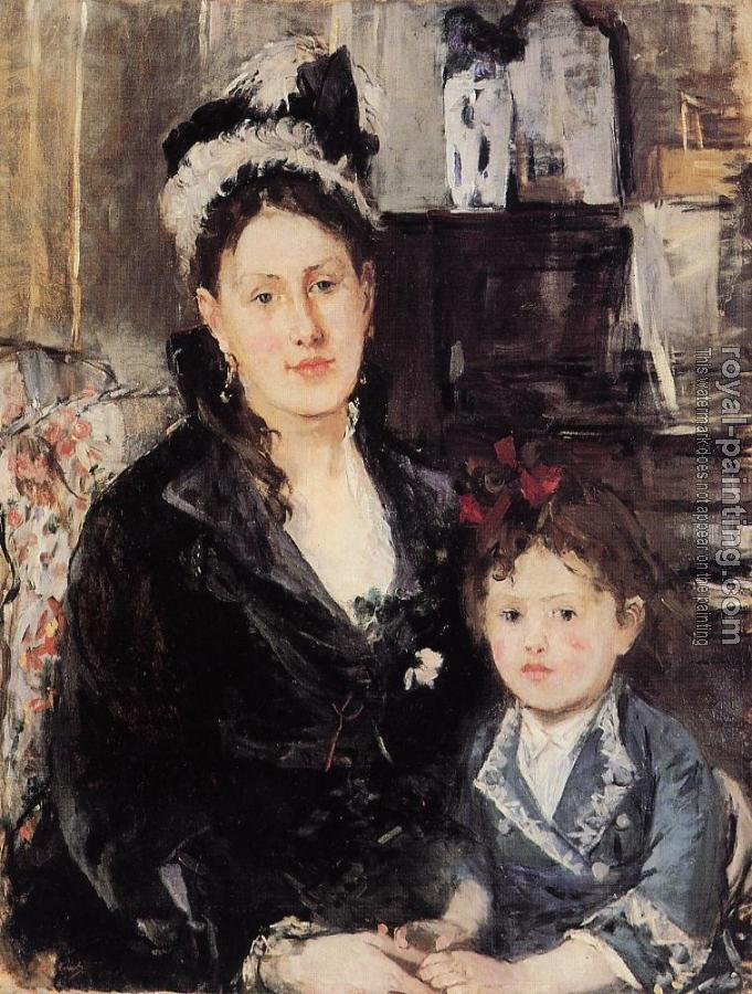 Berthe Morisot : Portrait of Maria Boursier and Her Daughter