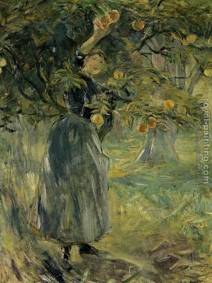 Berthe Morisot : The Orange Picker