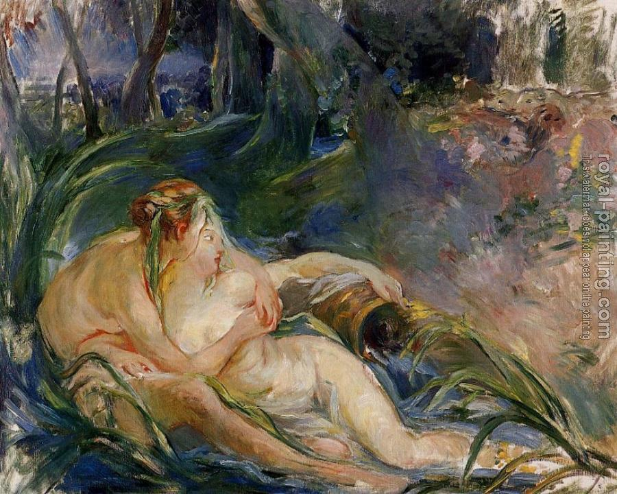 Berthe Morisot : Two Nymphs Embracing