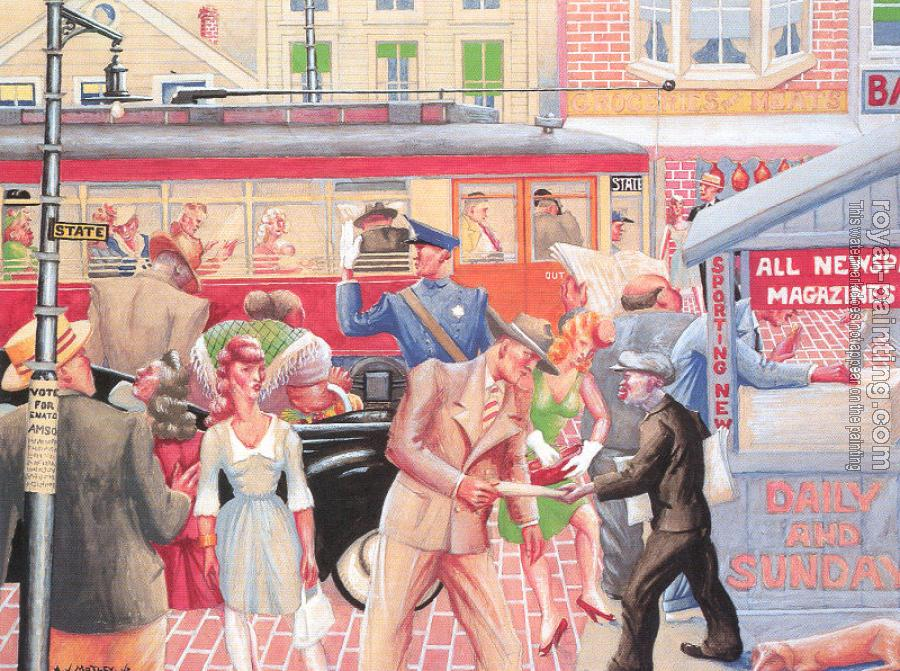 Archibald J Jr Motley : Extra Paper (State Street Scene)