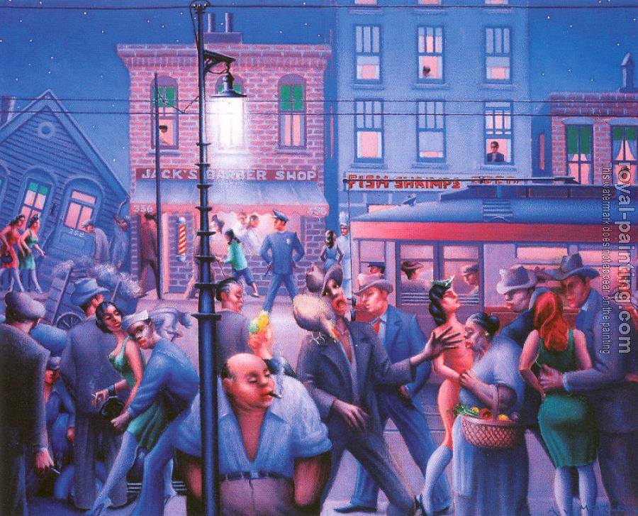 Archibald J Jr Motley : Casey and Mae in the Street