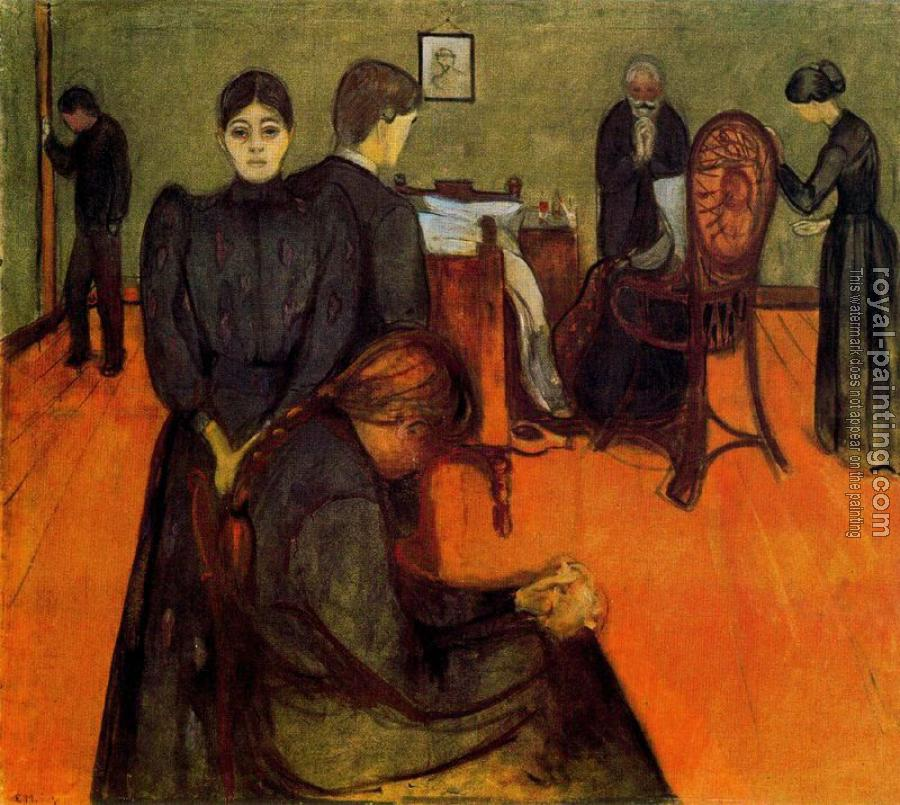 Death in the Sickroom by Edvard Munch | Oil Painting ...