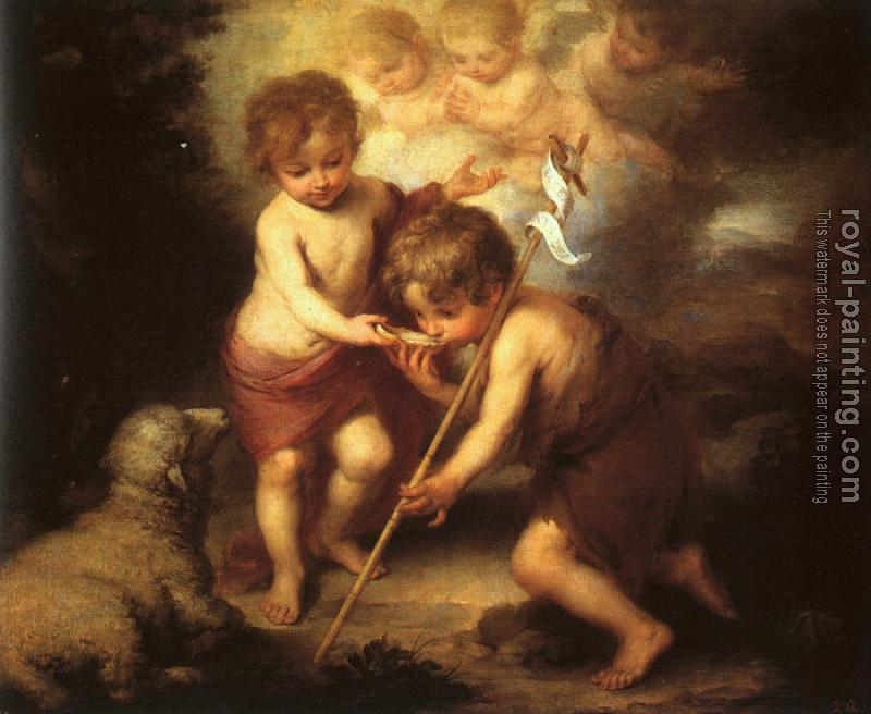 Bartolome Esteban Murillo : The Holy Children with a Shell