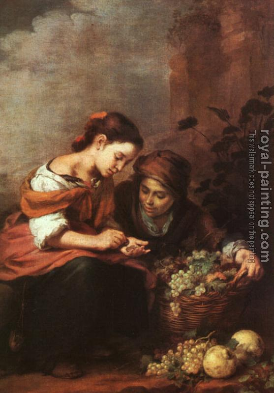 Bartolome Esteban Murillo : Girls Selling Fruit