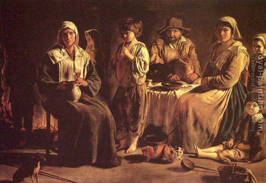 Le Nain Brothers : Peasant Family in an Interior