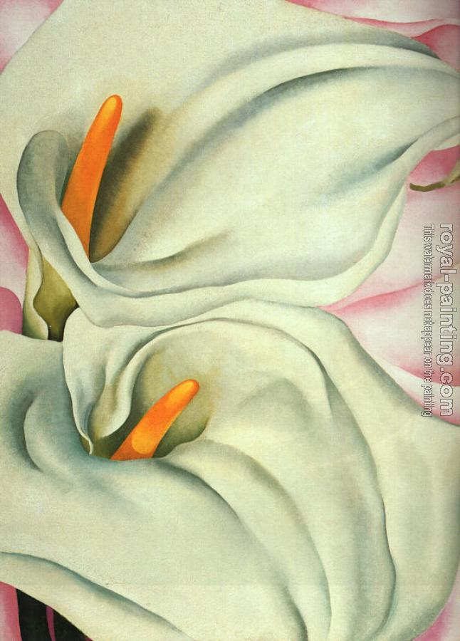 Georgia O Keeffe : Two Calla Lillies on Pink