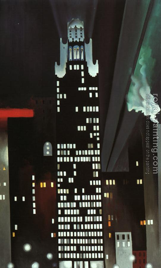 Georgia O Keeffe : The Radiator Building at Night, New York
