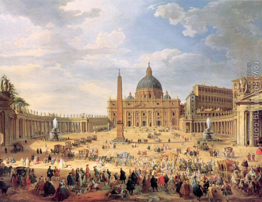 Giovanni Paolo Panini - Departure of Duc de Choiseul from the Piazza di St. Pietro