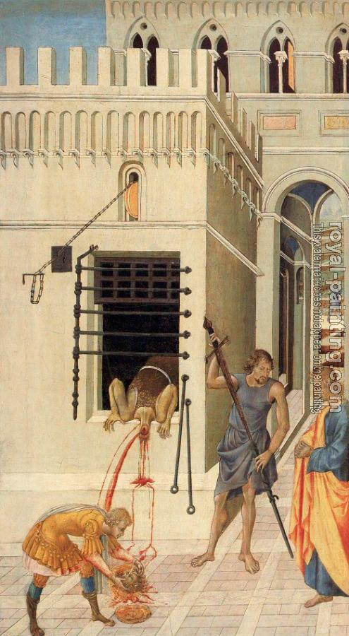 Giovanni Di Paolo : The Beheading of St. John the Baptist