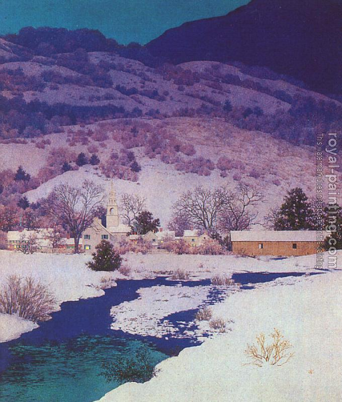 Maxfield Parrish : Christmas Eve  Deep Valley