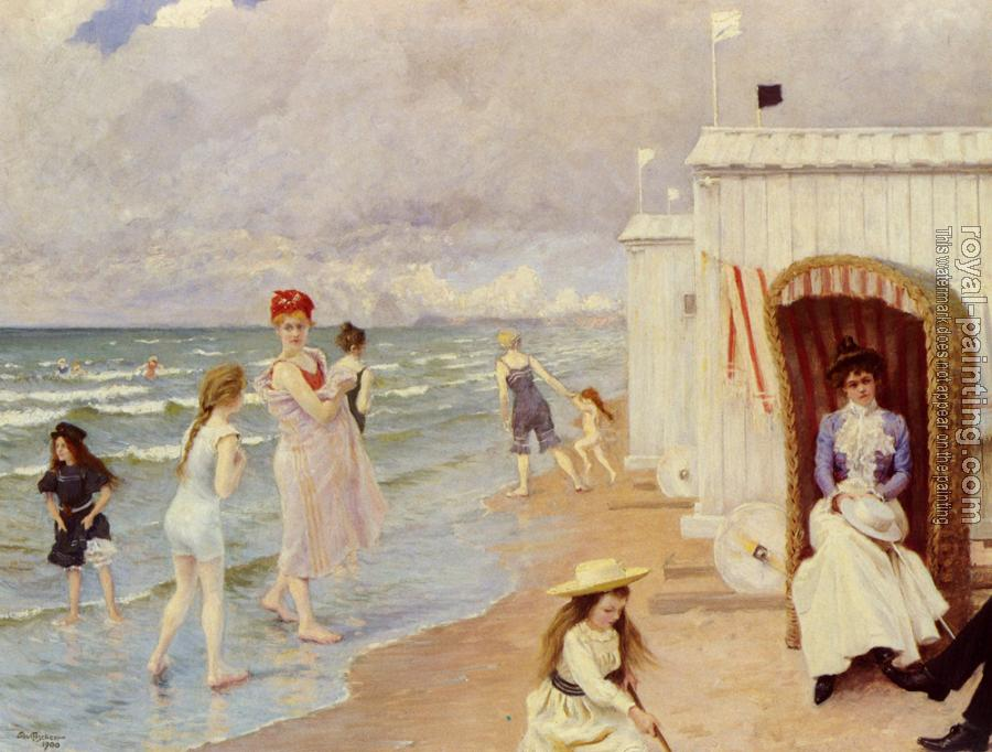 Paul Gustave Fischer : A Day At The Beach