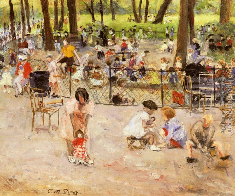 Paul Michel Dupuy : Le Parc Monceau A Paris