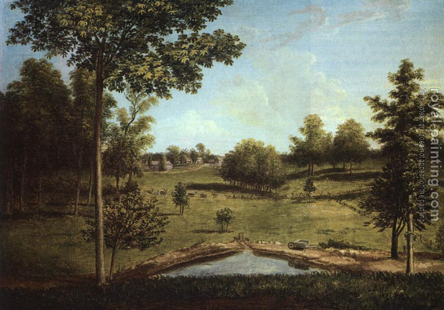 Charles Willson Peale : Landscape Looking Towards Sellers Hall from Mill Bank
